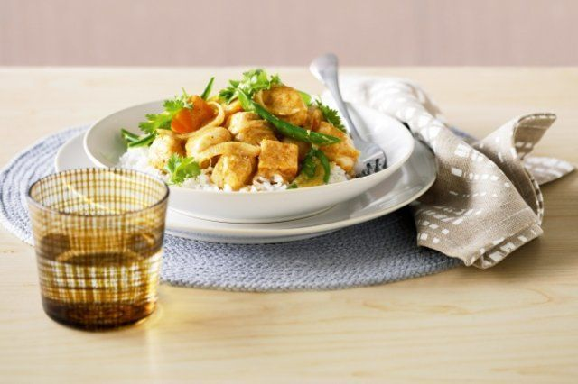 Peixe com abóbora e curry