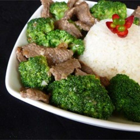 Carne chinesa com brócolis