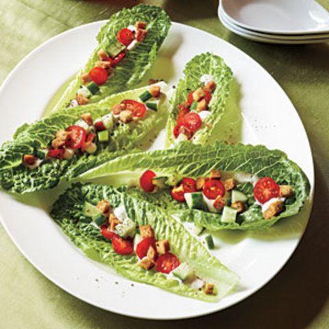 Mordidas de salada caesar