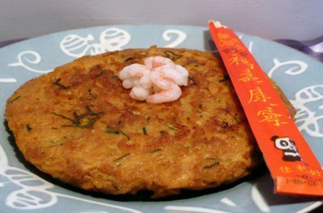 Omelete de macarrão instantâneo