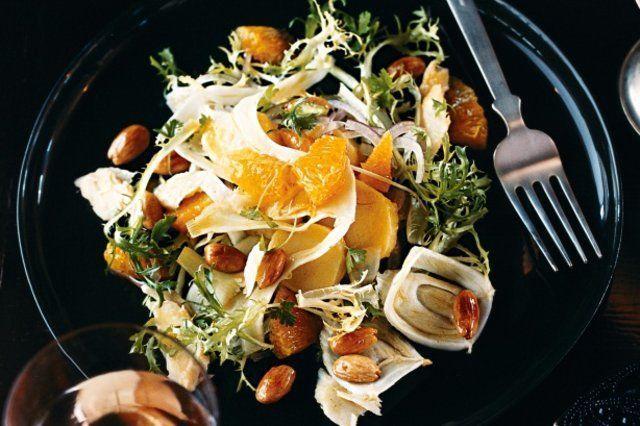 Salada de bacalhau e laranja