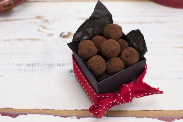 Trufas macias de chocolate amargo