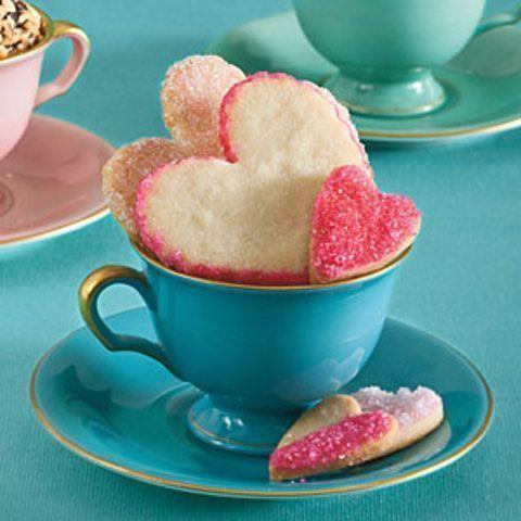 Biscoitinhos de coração de açúcar