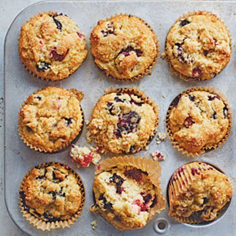 Muffins de frutas mistas
