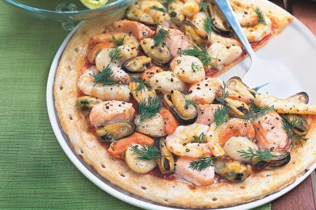Pizza de frutos do mar