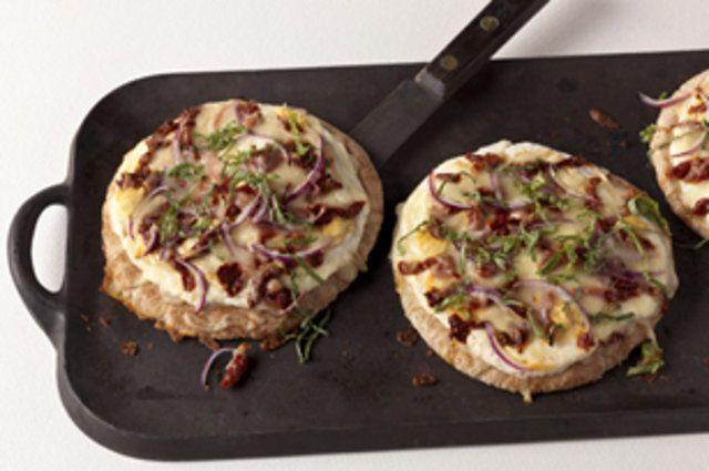 Pizza pita com ricota