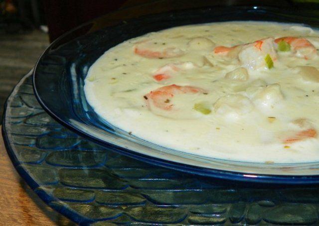 Sopa de frutos do mar