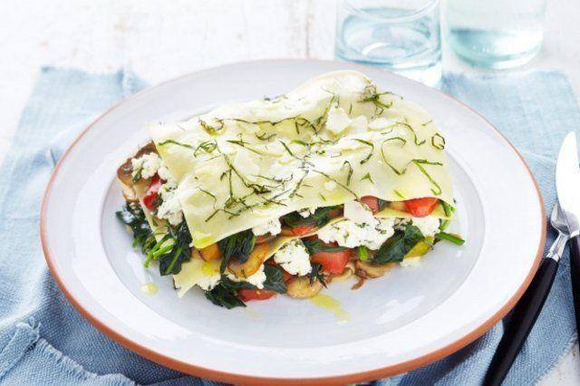 Lasanha vegetariana super rápida