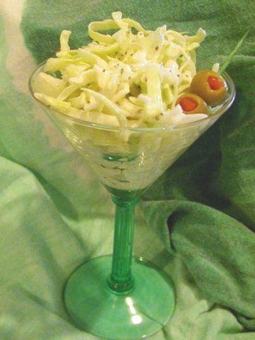 Salada de repolho com molho