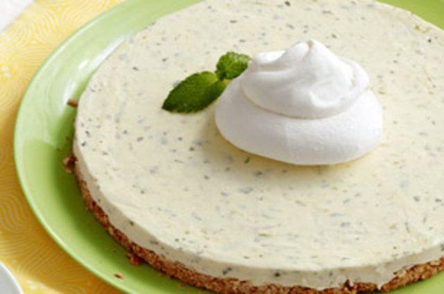 Torta gelada de hortelã com limão