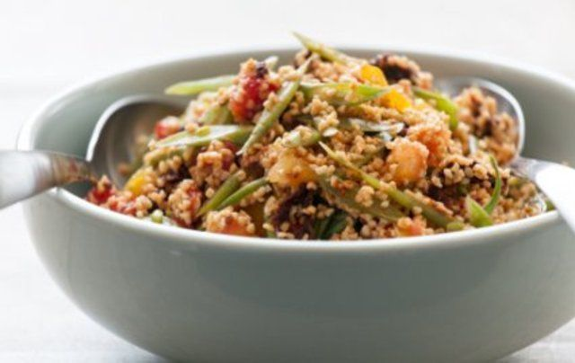 Salada de triguilho com tomate