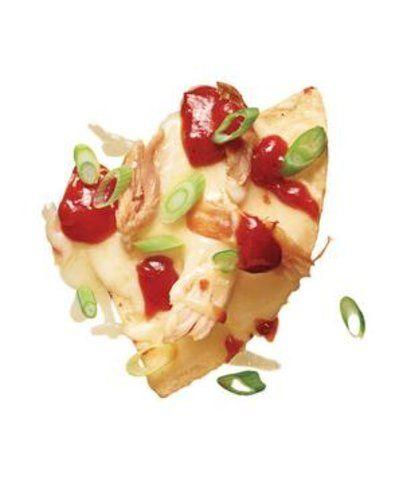Aperitivo de batatas fritas com frango