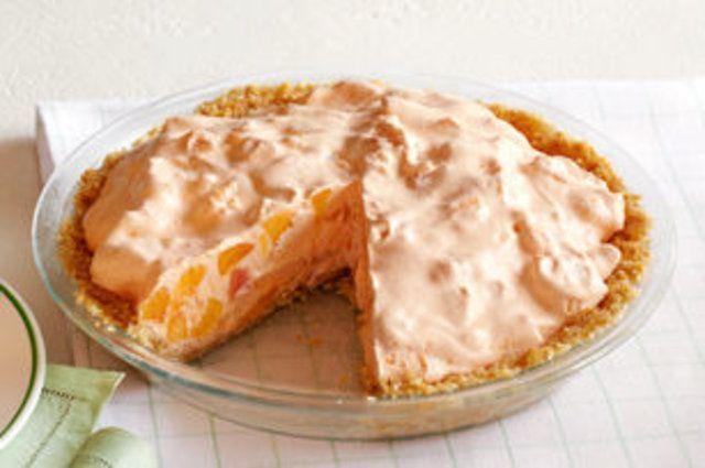 Torta cremosa de pêssegos