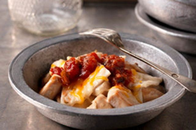 Enchilada fácil de frango