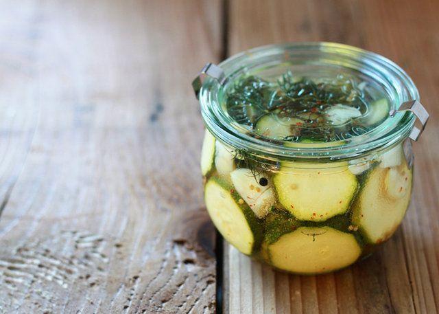 Pickles de abobrinha