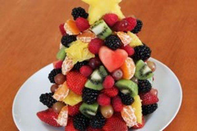Árvore de natal de frutas