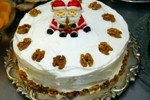 Torta de nozes para natal