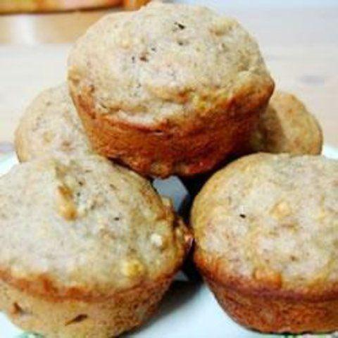 Muffins de maçã e banana