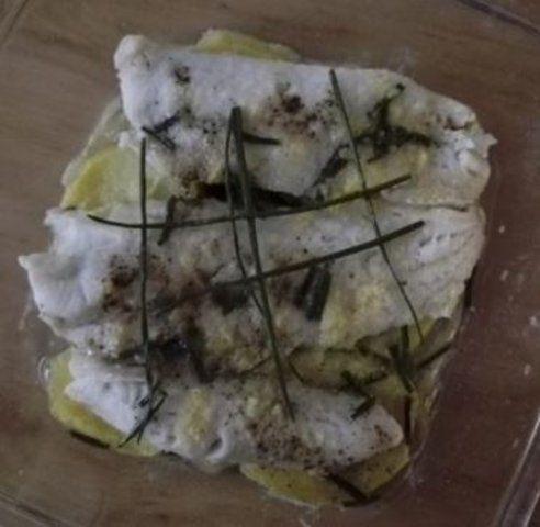 Merluza no forno com limão