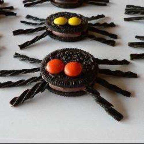 Aranha do Halloween de biscoito