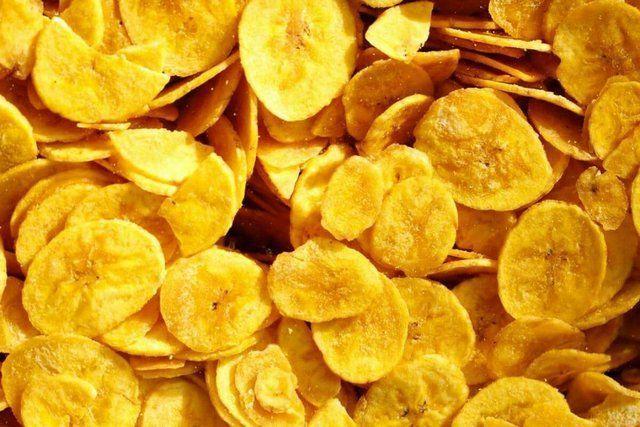 Chips de banana verde