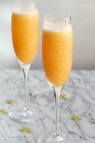 Bebida de pêssego Bellini