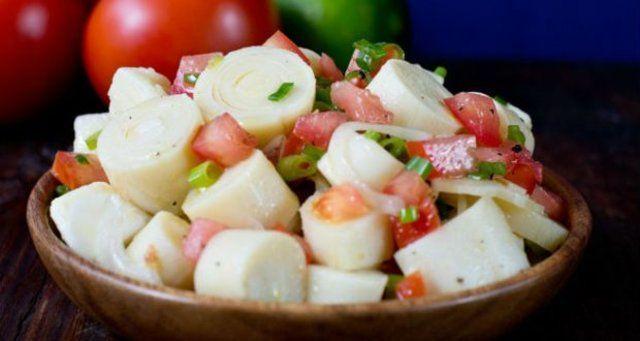 Salada de palmito pupunha