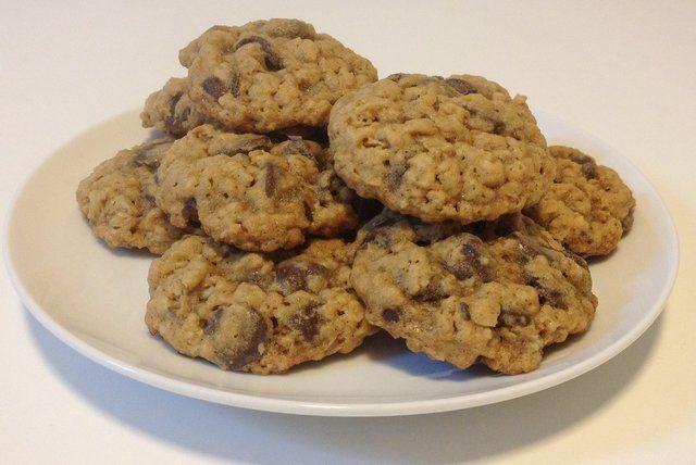 Cookies de chocolate e aveia