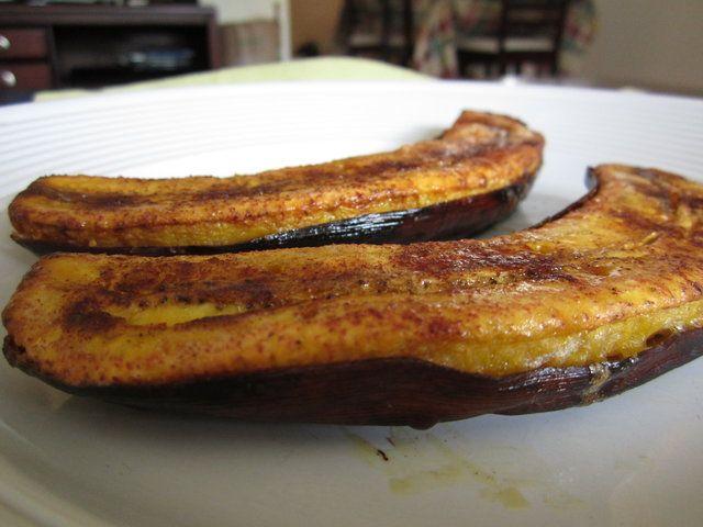 Bananas da terra assada