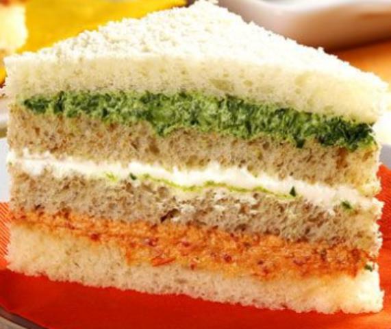 Sanduíche fit colorido